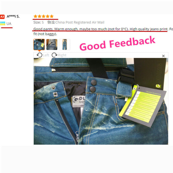 Unique Denim suspenders for ski pants men waterproof ski trousers Breathable Cotton Pad Warm Snow skiing and snowboard pants