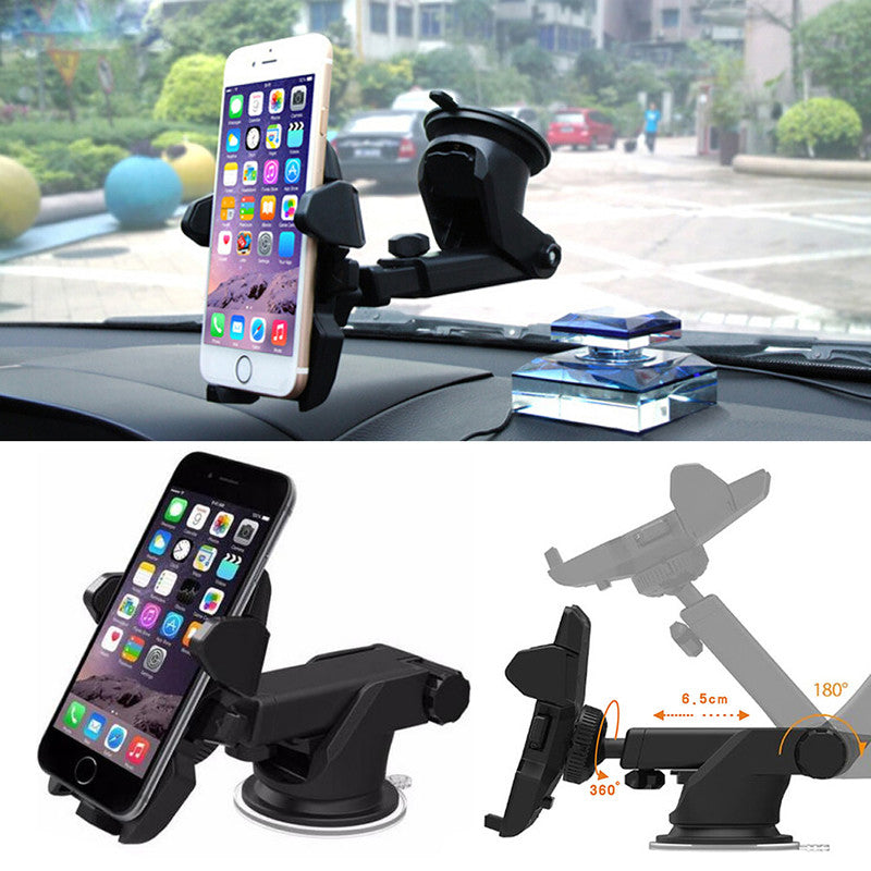 Universal Car 360 Degree Windshield Mount Holder Stand For iPhone Android Phone GPS