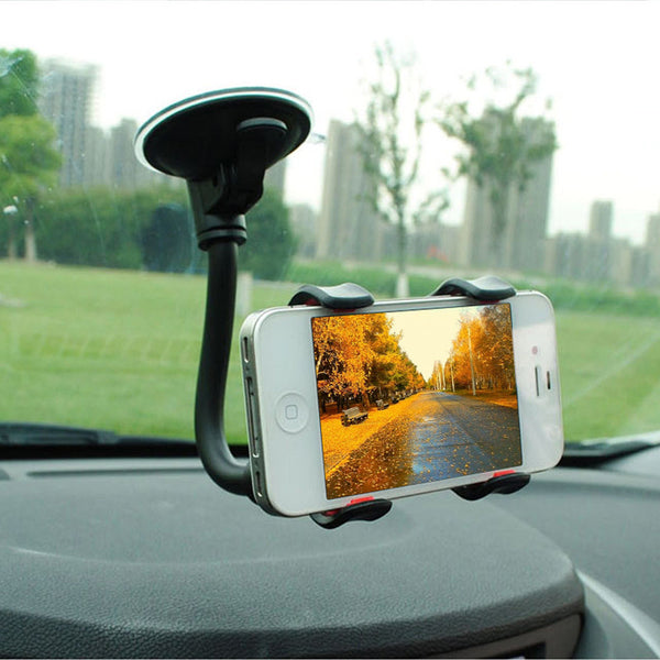 Universal Car Phone Holder Car Window Windshield Mount Holder 360 Rotation Long Arm Windshier GPS Mobile Phone Holdersld Bracket