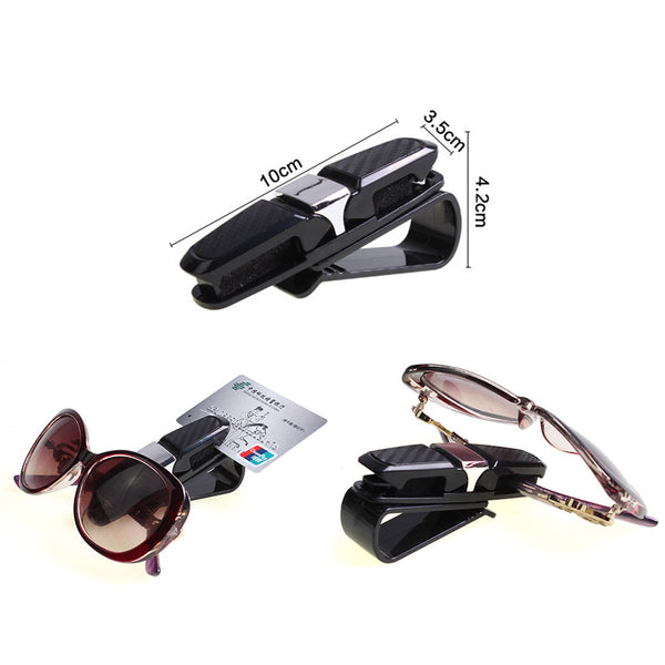 Universal Car Sun Visor Sunglasses Ticket Business Card Holder Clip Portable Car Glasses Cases ABS
