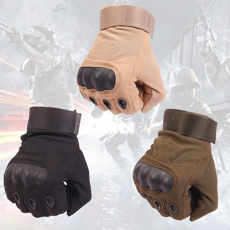 US Army Tactical Gloves Outdoor Sports Full Finger Combat Motocycle Slip-resistant Fiber Tortoise Shell Military Cycling Mittens