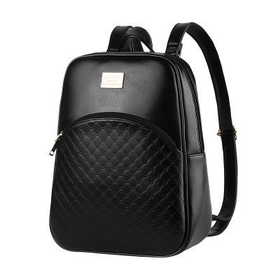 Ybyt Criss-cross Plaid Pu Backpacks Women 0085