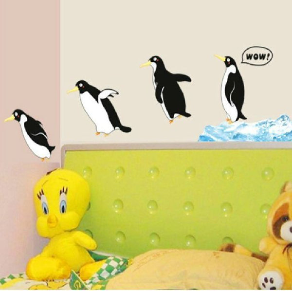 wall stickers home decor home decoration wall sticker for kids rooms wall decals The Antarctic penguins diving Z368