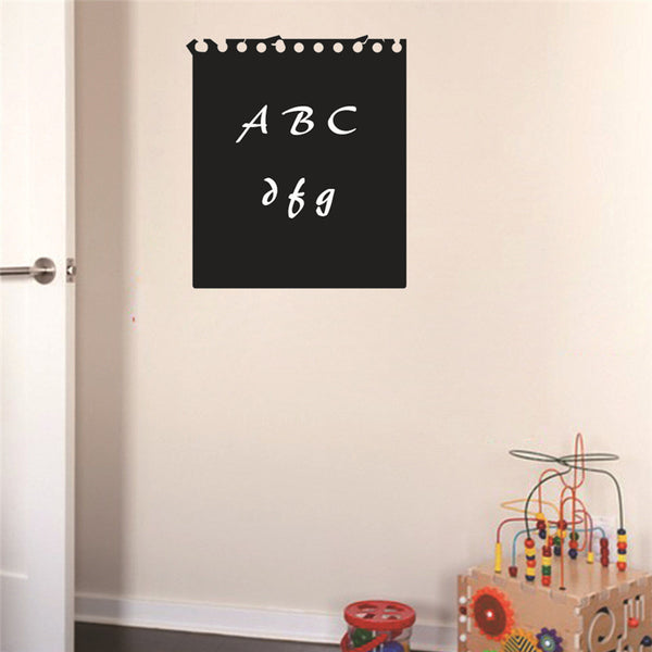 Wallpaper DIY Blackboard Waterproof Wall Sticker For Kids Rooms Stickers Removable Black Board Sticker 60*51CM Home Decor