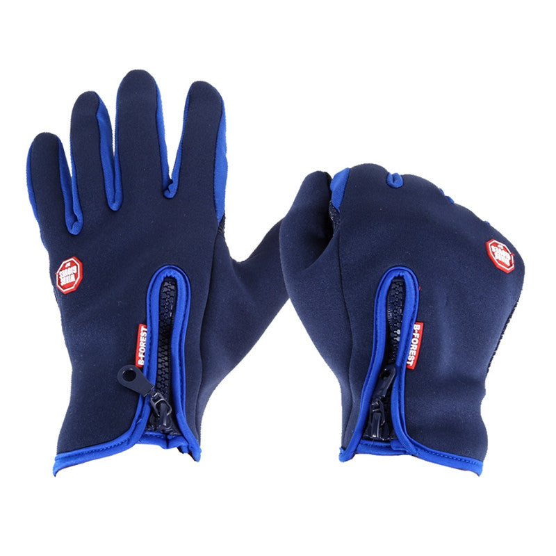 Warm Windproof Waterproof Touch Screen Fleece Cycling Gloves Unisex Full Finger Bicycle Gloves Winter Outdoor Sport Gloves S-XL