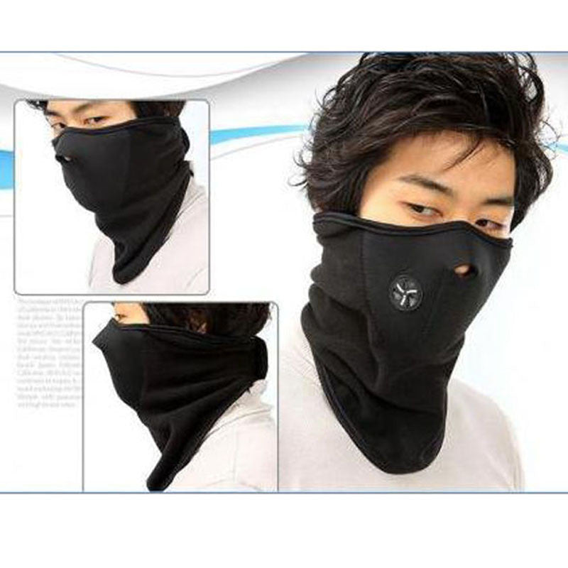 Winter Sports Mask Cycling Motorcycle Scarf Neck Warm Face Sheild Mask Veil Guard Snowboard Ski Face Hood Black Windproof Mask