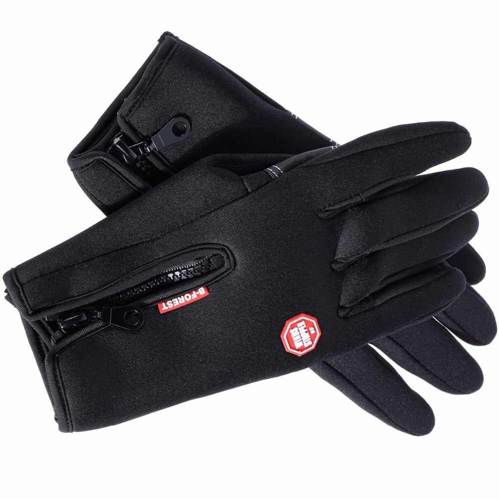 Winter Sports Waterproof Ski Snow Motorcycle Gloves Warm Windproof Cycling Bike Outdoor Full Finger Bicycle Gloves Plus Size