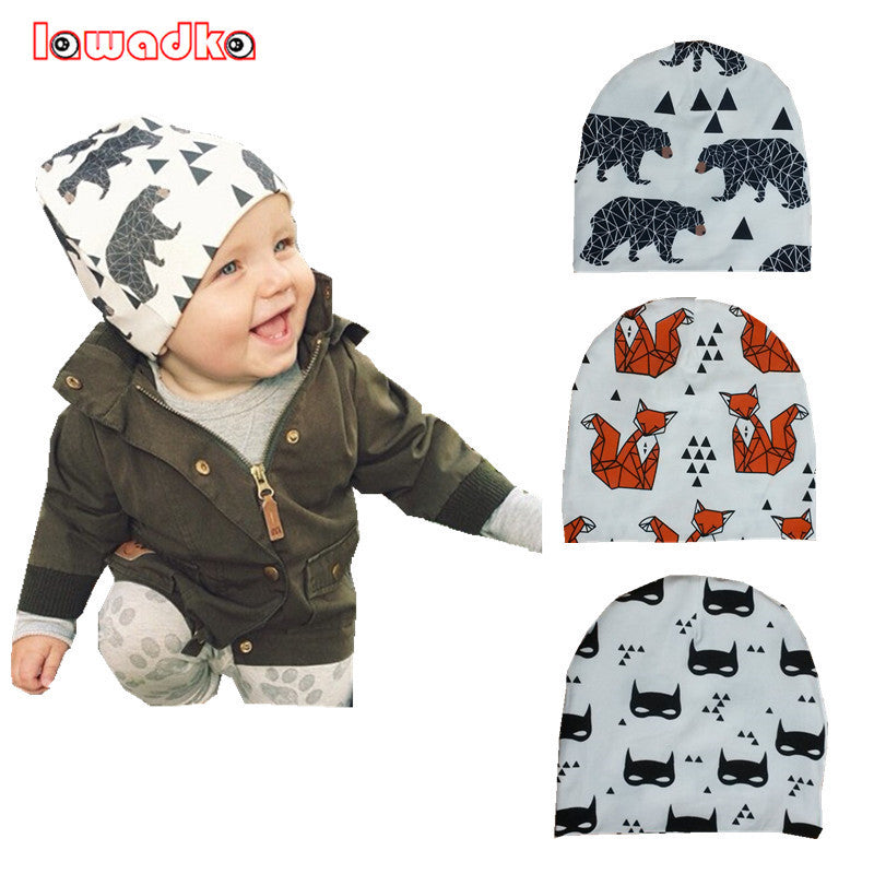 2a11c367626 Winter Warm Cotton Baby Hat Girl Boy Toddler Infant Kids Caps Lovely Animal  Knitted Crochet Baby ...