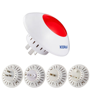 Wireless Flashing Siren Multipurpose Stand Horm Alarm System System Red Light Strobe Siren 433 MHz Wireless Siren