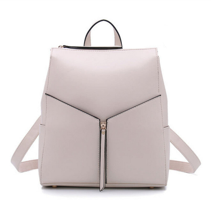 Sun Eight Belts Solid Split Leather Backpacks Women Rf430