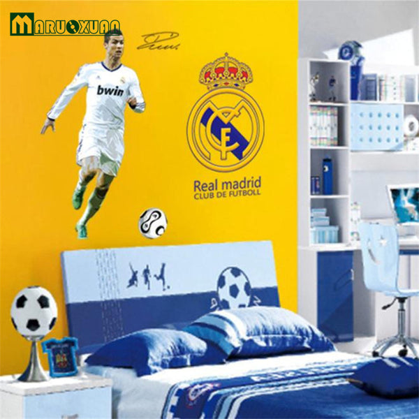 World Cup Play Personalized Football Wall Sticker Decals PVC Vinyl Removable Art Mural Parlor Kids Home Decor