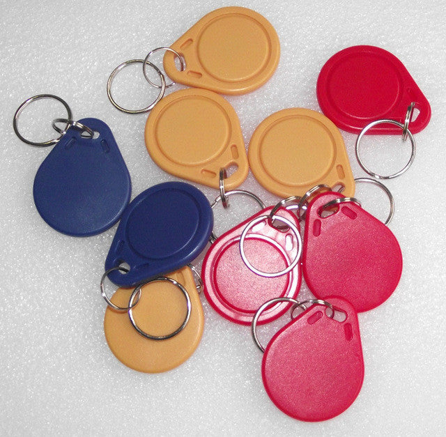 Writable FM1108 13.56MHz RFID IC Key Tags Keyfobs Token Keychain for access control Arduino