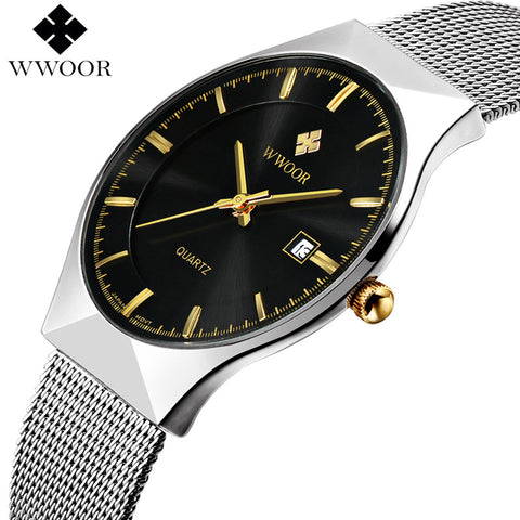 Wwoor Stainless Steel Quartz Alloy Quartz Wristwatches Men 8016