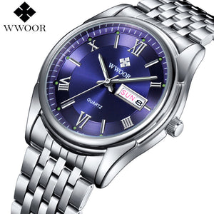 Wwoor Stainless Steel Quartz Alloy Quartz Wristwatches Men 8802