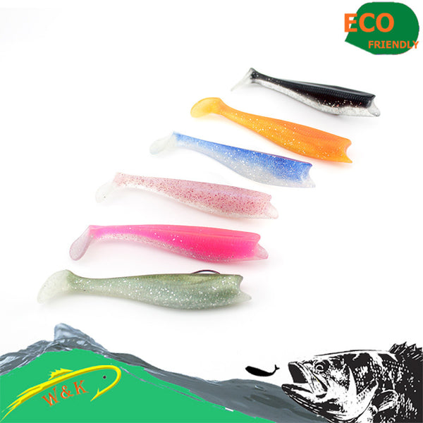 (Zander )Soft fishing lure--14 cm lure shad with paddle tail soft bait
