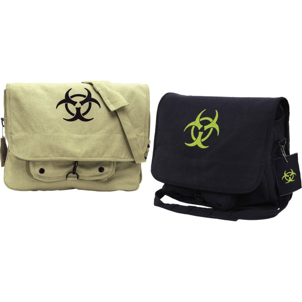 Rothco Vintage Canvas Biohazard Messenger Bag - Group