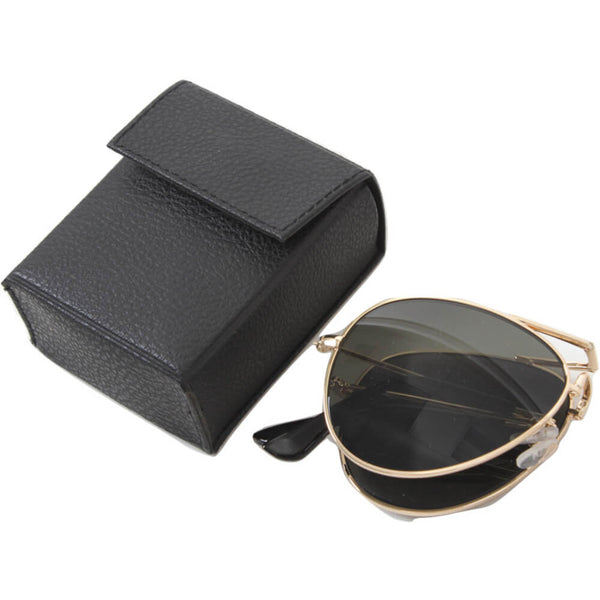 Rothco Folding Aviator Sunglasses, Folded with Case