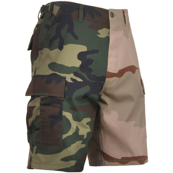 Rothco Two-Tone Camo BDU Shorts, Woodland/Tri-Color Camo