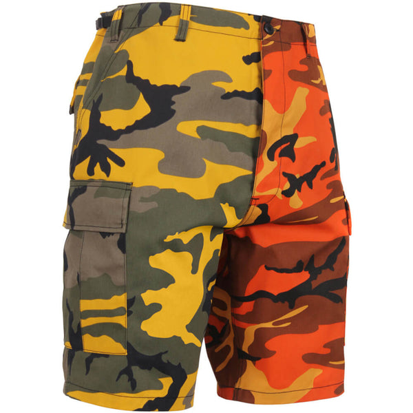 Rothco Two-Tone Camo BDU Shorts, Yellow/Orange Camo