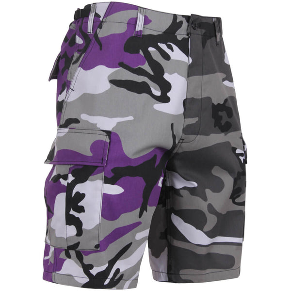 Rothco Two-Tone Camo BDU Shorts, Purple/City Camo