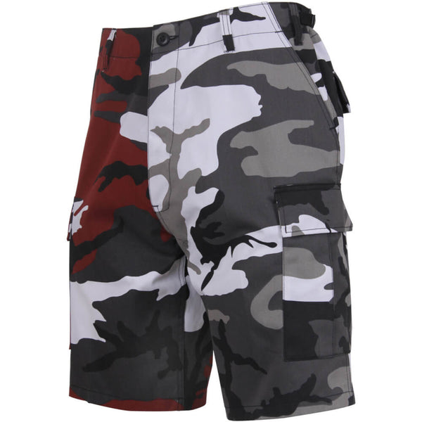 Rothco Two-Tone Camo BDU Shorts, Red/City Camo