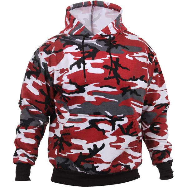 Rothco Red Camo Pullover Hooded Sweatshirt