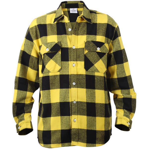 Rothco Buffalo Plaid Brawny Lumberjack Flannel Shirt - Yellow