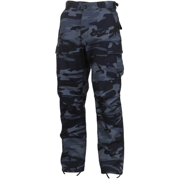 Rothco Men's Midnight Blue Camo BDU Pants, Military Style BDU in Traditional Vietnam Era Camouflage Pattern