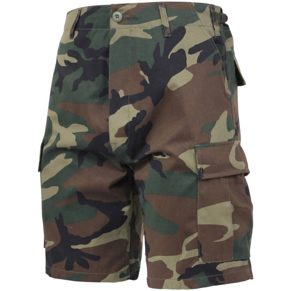 Rothco Camouflage BDU Shorts, Woodland Camo