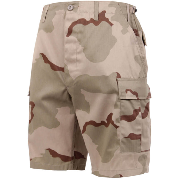 Rothco Camouflage BDU Shorts, Tri-Color Desert Camo