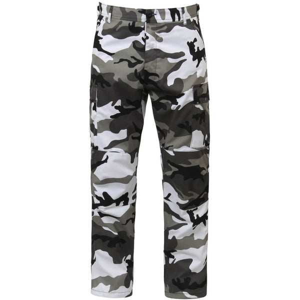 Rothco Men's City Camo BDU Pants w/Free Matching Bandana, Military Style BDU in Traditional Vietnam Era Camouflage Pattern