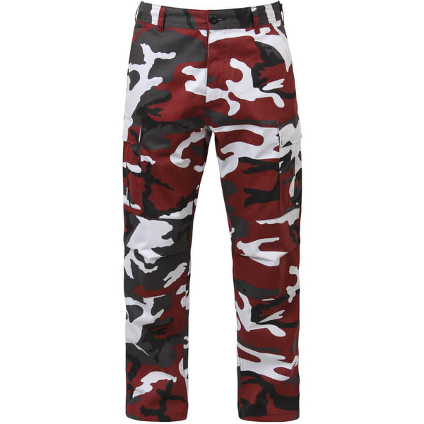 Rothco Men's Red Camo BDU Pants w/Free Matching Bandana, Military Style BDU in Traditional Vietnam Era Camouflage Pattern