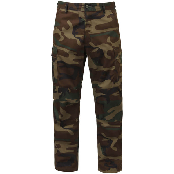 Rothco Men's Woodland Camo BDU Pants w/Free Matching Bandana, Military Style BDU in Traditional Vietnam Era Camouflage Pattern
