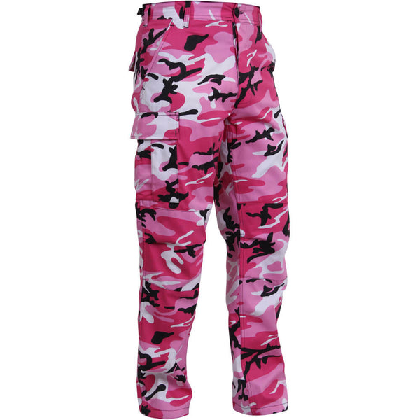 Pink Camo Cargo Pants - Right View