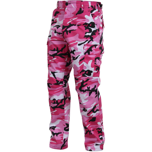Pink Camo Cargo Pants - Left View