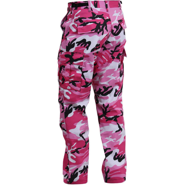 Pink Camo Cargo Pants - Back View