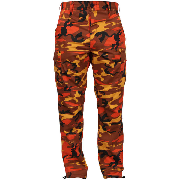 Rothco Savage Orange Camo BDU, Front