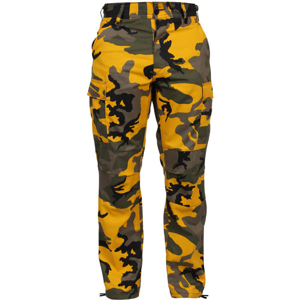 Rothco Men's Yellow Camo BDU Pants, Military Style BDU in Traditional Vietnam Era Camouflage Pattern
