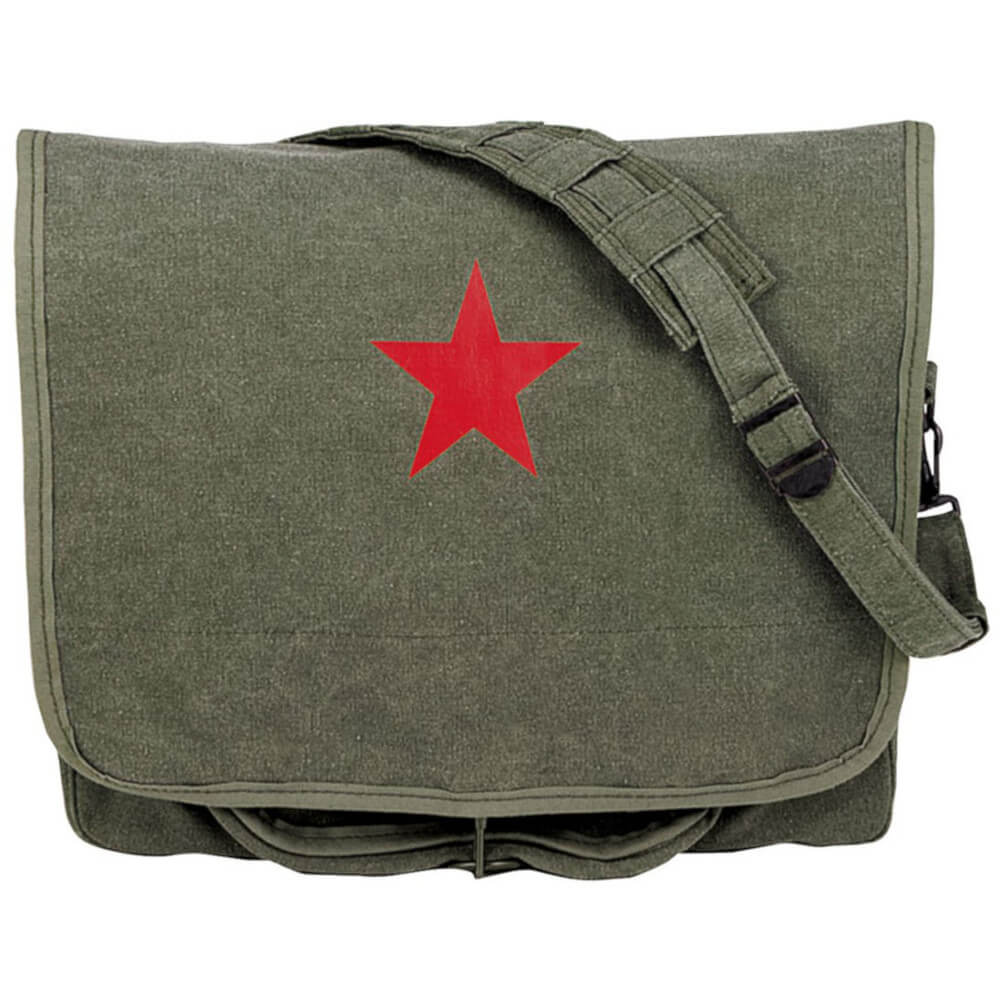 Rothco Canvas Shoulder Bag with Red Star