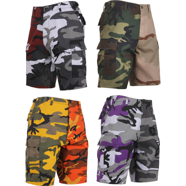 Rothco Two-Tone Camo BDU Shorts, Group
