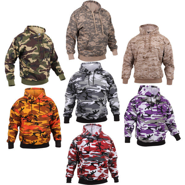 Rothco Camo Pullover Hooded Sweatshirt, Group