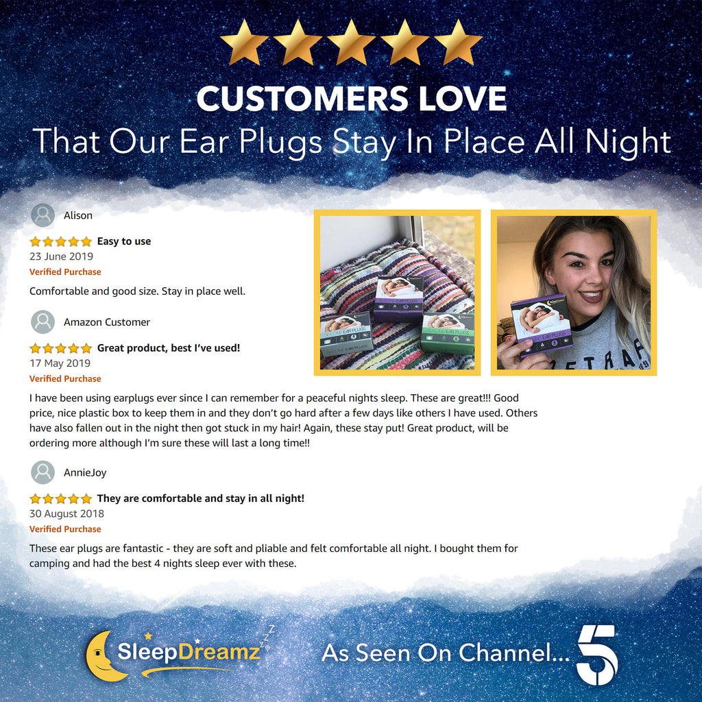 Silicone Ear Plugs For Sleeping (x10 pairs) - SleepDreamz