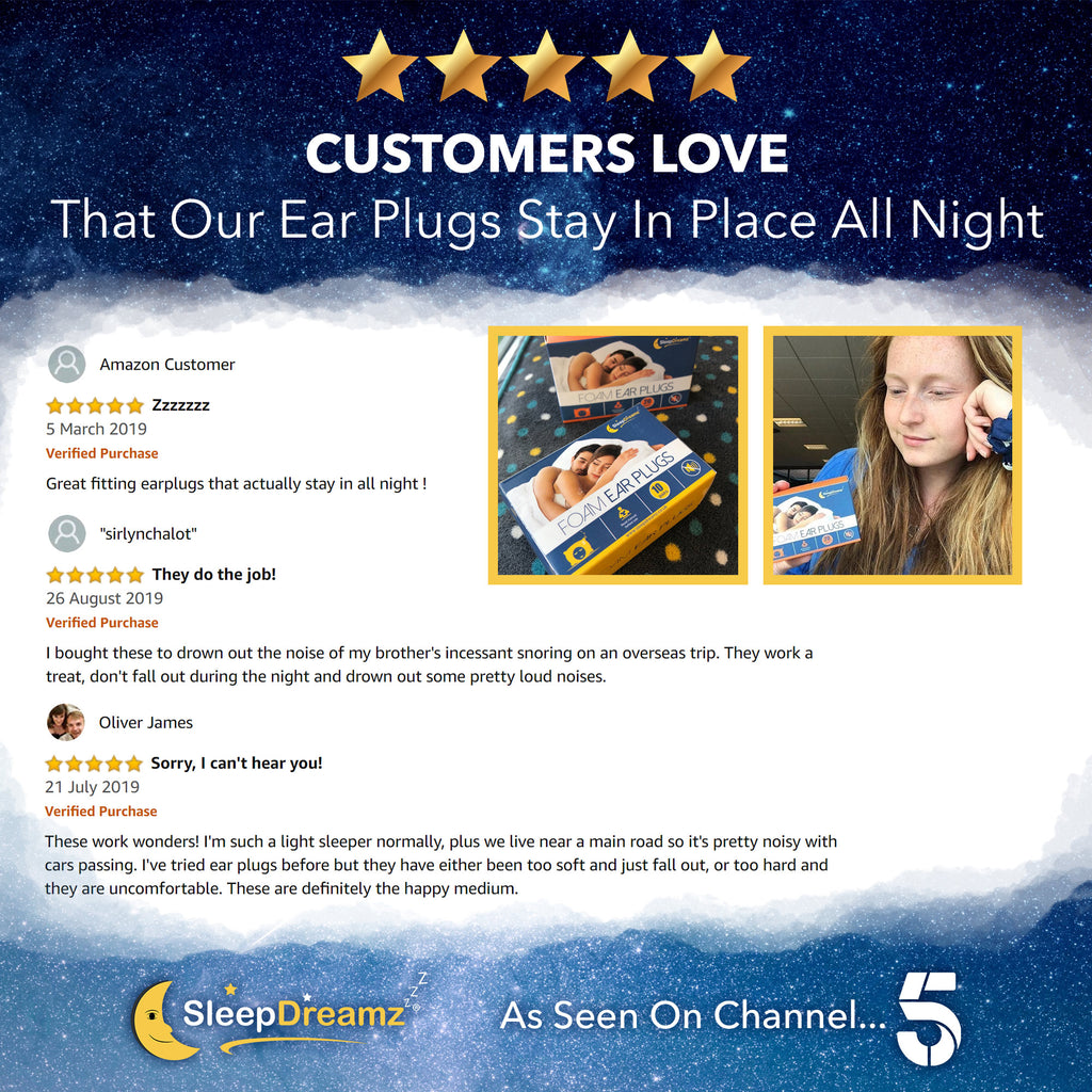 Foam Ear Plugs for Sleeping (x20 pairs) - SleepDreamz