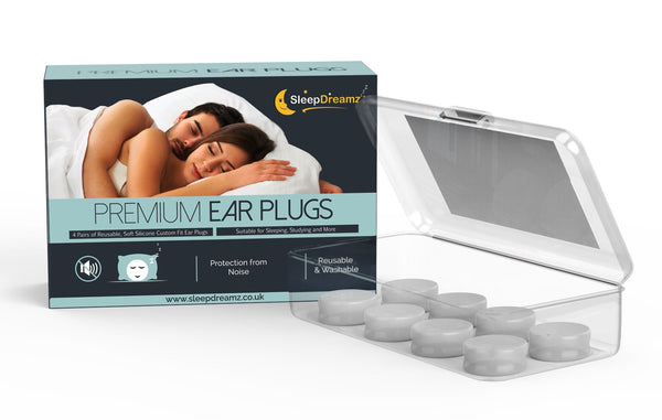Silicone Ear Plugs For Sleeping (x4 pairs) - SleepDreamz