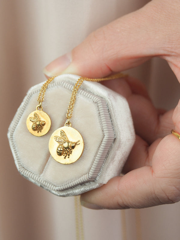 Gold Bee Coin Necklaces How To Wear Jewellery In Summer