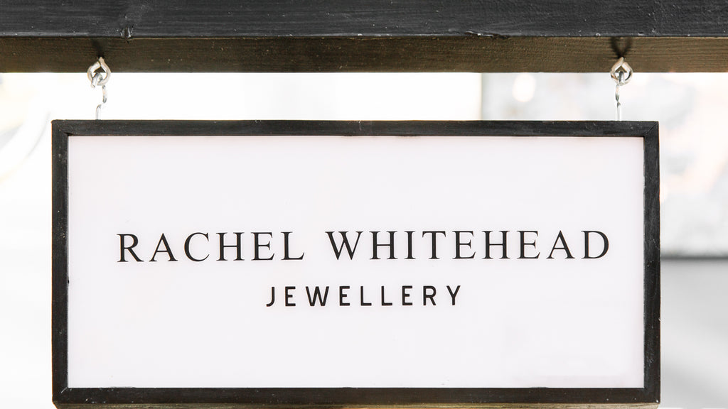 Rachel Whitehead Jewellery Pop Up Appear Here Bullring close up of stand sign