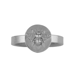 Sterling Silver Basking Bee Signet Ring