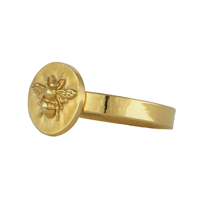 Gold Vermeil Basking Bee Signet Ring