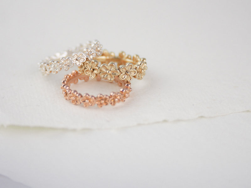 Silver Small Garland Ring