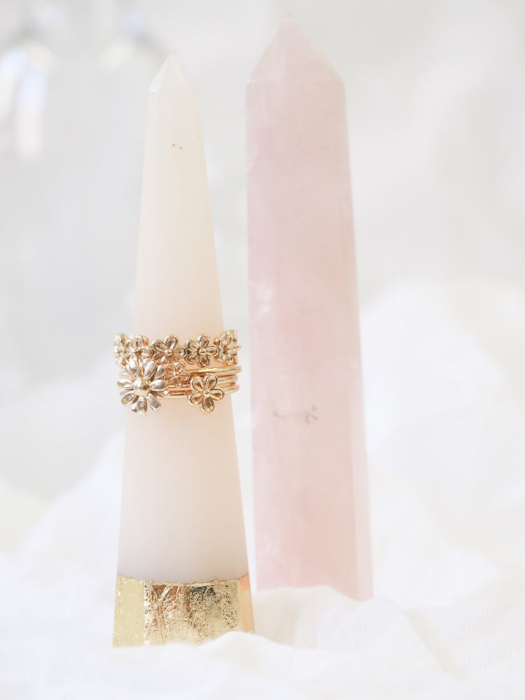 Gold Vermeil Flower Stacking Ring